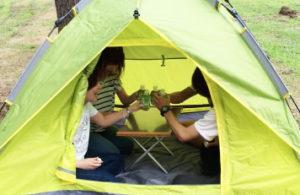 大人4人でも楽々テント