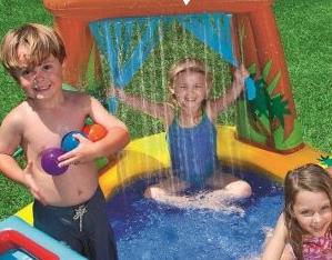 家庭用大型プールのシャワー