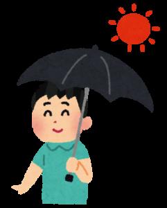 男性が日傘