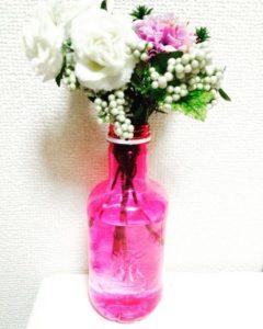ソランデカブラスを花瓶として