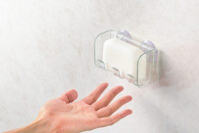 縦型の石鹸置き